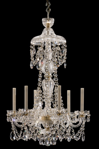 6 light Perry style chandelier - Lanesborough