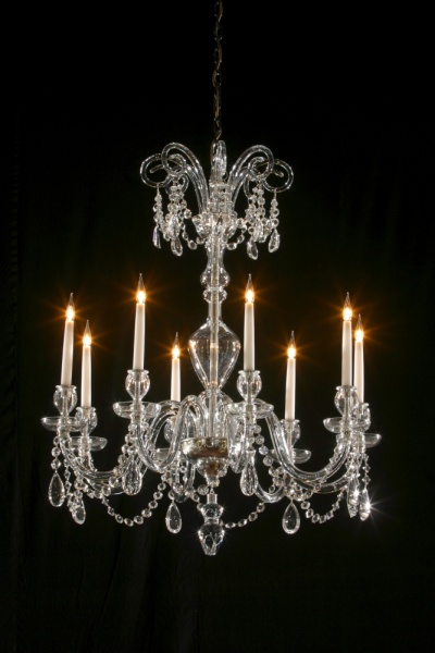 8 light Uncut Victorian style with crooks and dressings