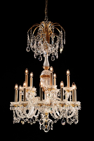 Small 15 light Osler Perry style chandelier
