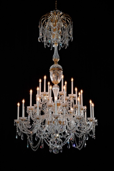 Large 30 light Osler Perry style chandelier