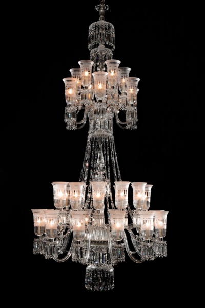 36 light Perry style chandelier with shades