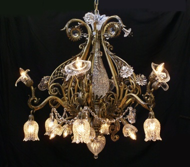 Reproduction Osler ornate electrolier chandelier