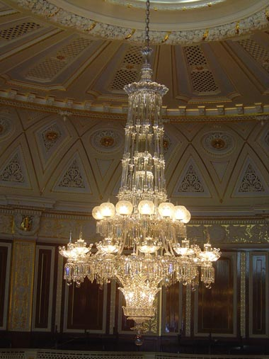 Osler chandelier from St George's Hall