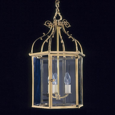 Brass hexagonal lanterns